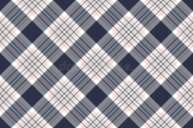 Kontrollera diagonal sömlös tygtextur för skjortan vektor illustrationer