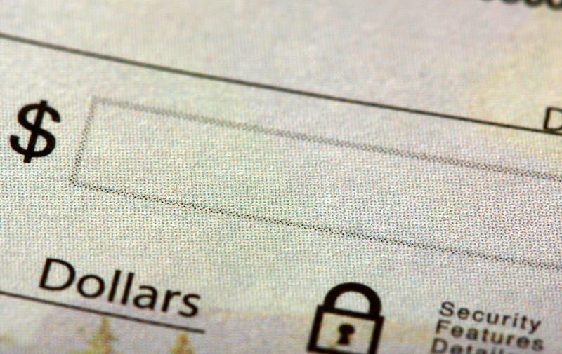 kontrollera fältpengar royaltyfria bilder