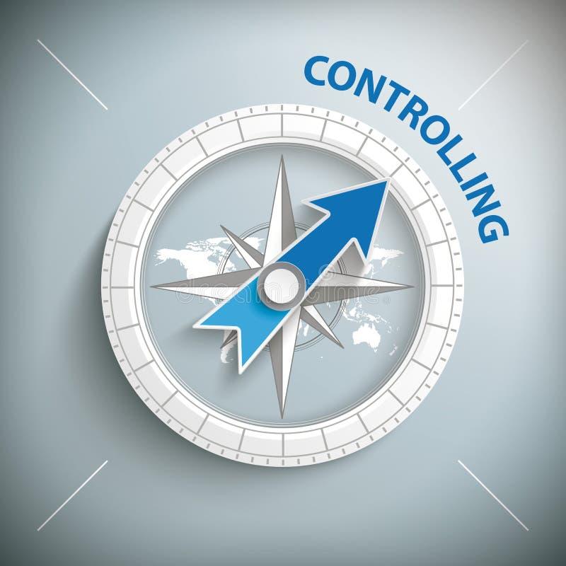 Kontrollera för kompass royaltyfri illustrationer