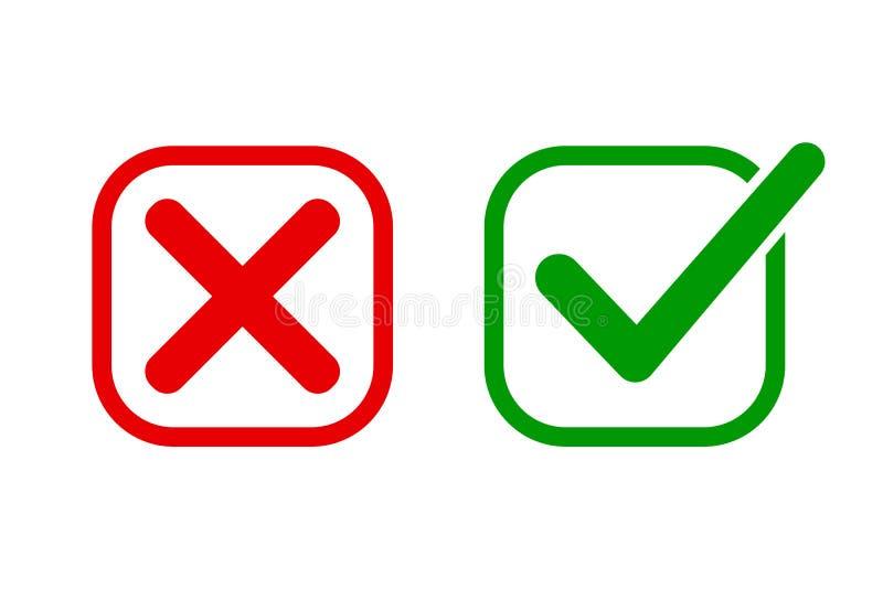 Kontrollera fläcken och arga symboler - vektor royaltyfri illustrationer
