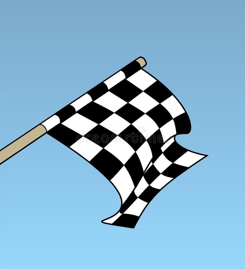 kontrollera flaggan royaltyfri illustrationer