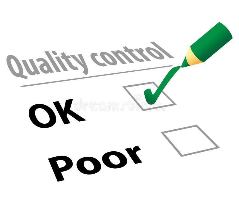 kontrollera kvalitet stock illustrationer