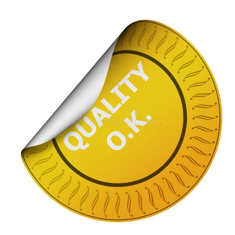 kontrollera kvalitetsetiketten vektor illustrationer