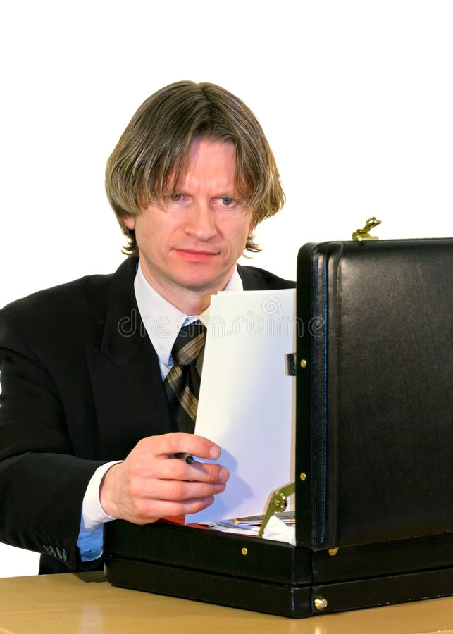 kontrollera papperen royaltyfri bild