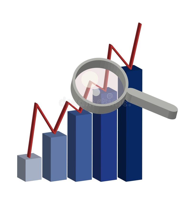 kontrollera statistik royaltyfri illustrationer