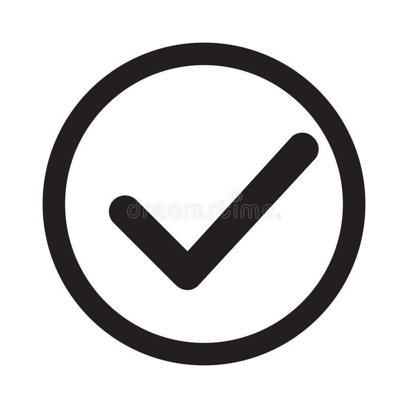 kontrollera symbolen Checkmarkvektor Godkänt symbol Ok symbol Kontrollera knapptecknet Fästingsymbol testpunkt Bästa modern plan  stock illustrationer
