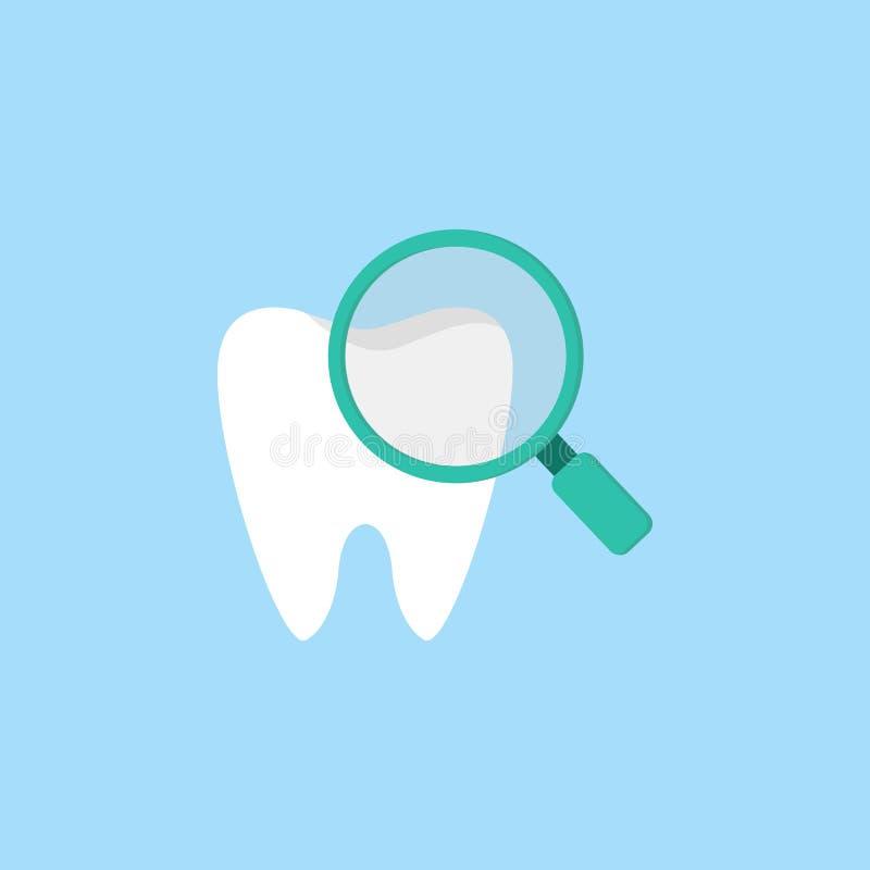 Kontrollera symbolen för tänder framlänges stock illustrationer