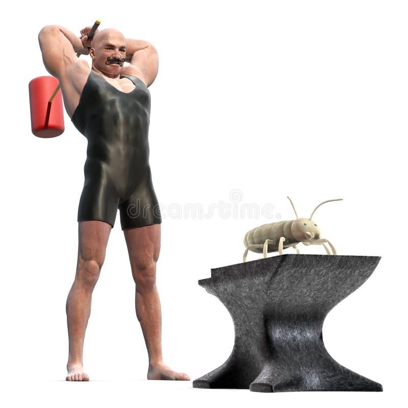 kontrollera termiten stock illustrationer
