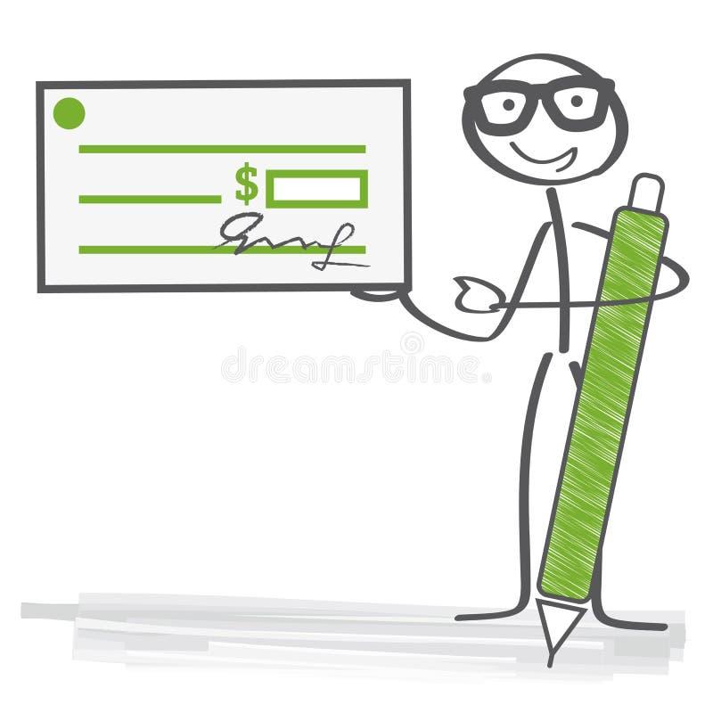 kontrollera underteckning stock illustrationer