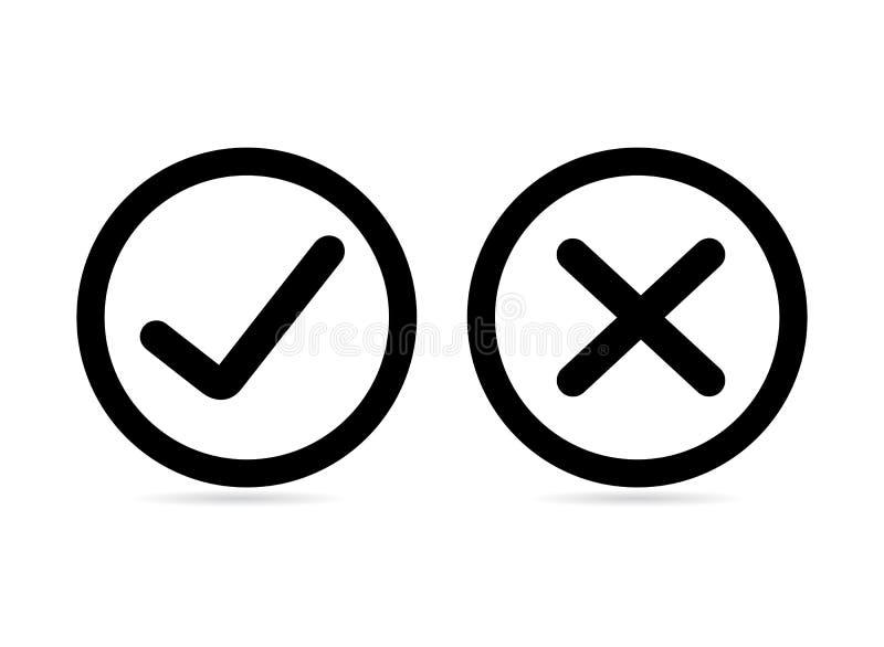 Kontrollera uppsättningen för asklistasymboler, färgrika symboler som isoleras på vit bakgrund vektor illustrationer