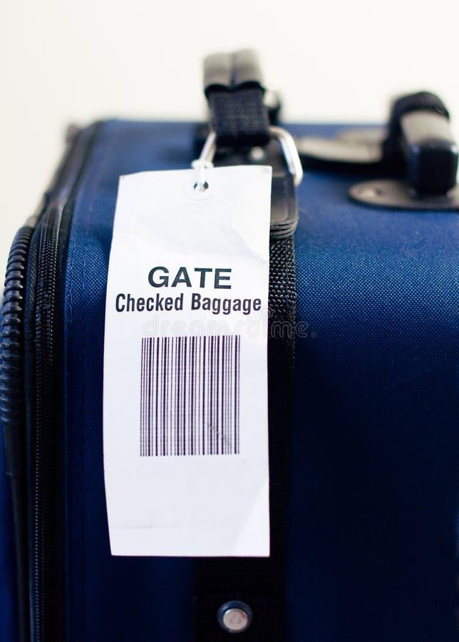 kontrollerad port för flygbolag bagage royaltyfri bild