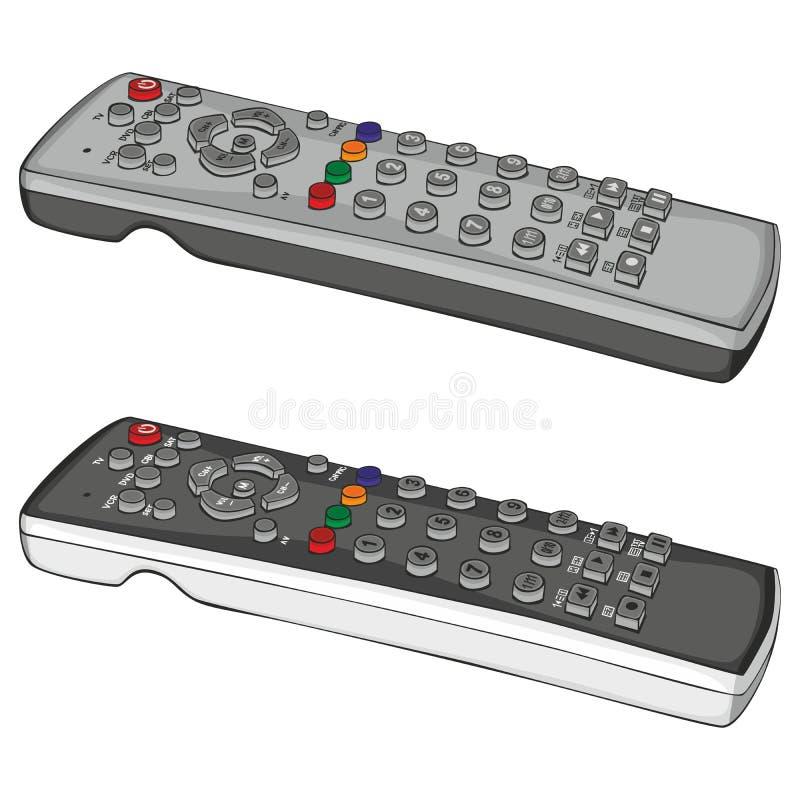 kontrollerar remoten stock illustrationer