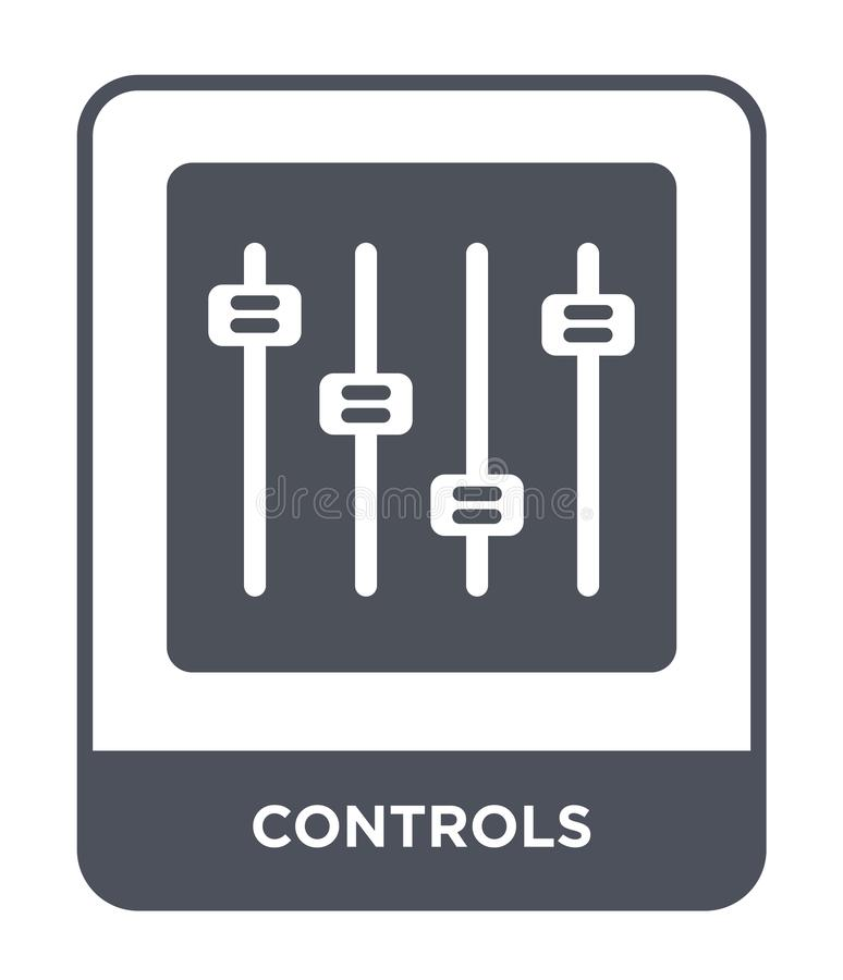 kontrollerar symbolen i moderiktig designstil kontrollsymbol som isoleras på vit bakgrund lägenhet för symbol för kontrollvektor  royaltyfri illustrationer