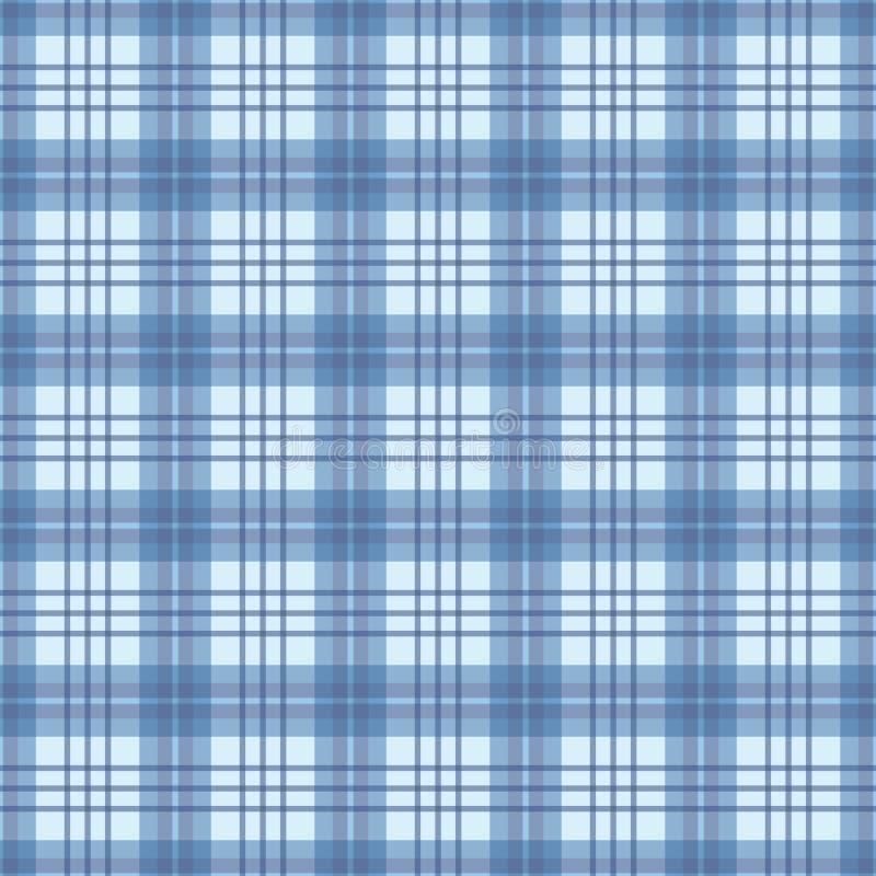 Kontrollerat sömlöst mönster i blått och vitt Ett mönster för geometrisk plätering av vektor vektor illustrationer
