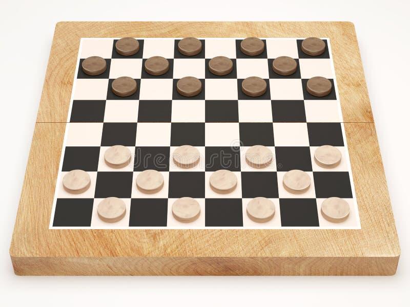 Kontrolleur-Spiel auf weißem Hintergrund stock abbildung