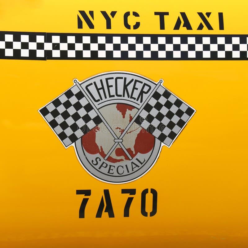 Kontrolleur-Taxi produzierte durch Checker Motors Corporation in New York stockfoto