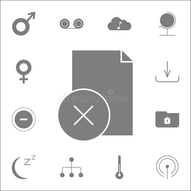 Kontrollista kasserad symbol Detaljerad uppsättning av minimalistic symboler Högvärdigt kvalitets- tecken för grafisk design En a stock illustrationer