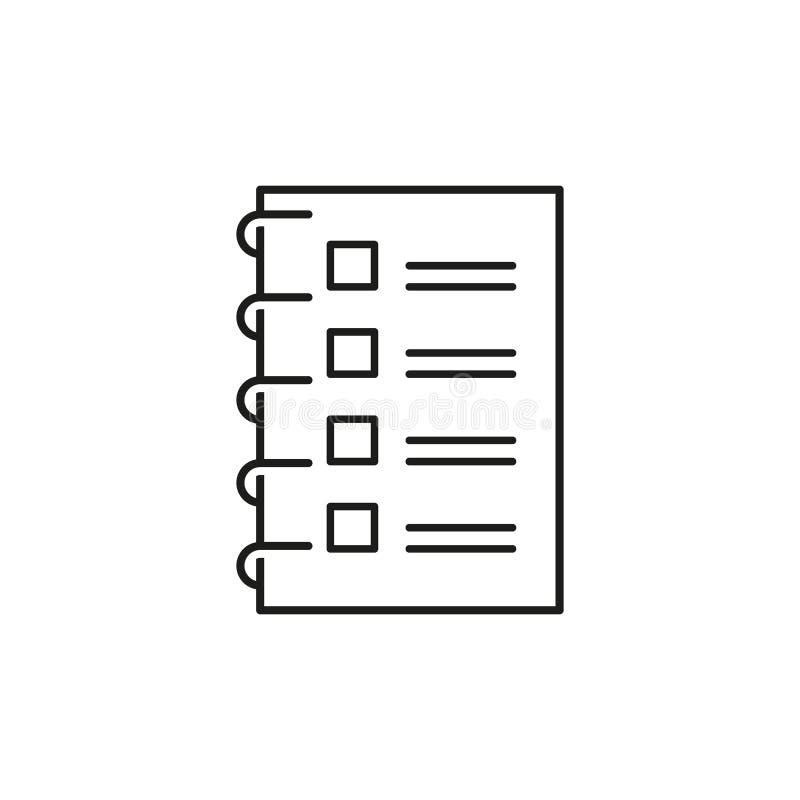 Kontrollistasymbol som gör listaöversiktssymbolen vektor illustrationer
