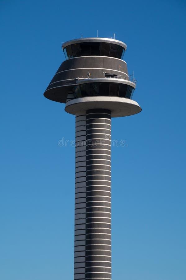 Kontrolltorn, Arlanda flygplats, Stockholm, Sverige royaltyfria foton