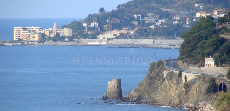 Kontrollturm Auf Dem Meer Stockbilder