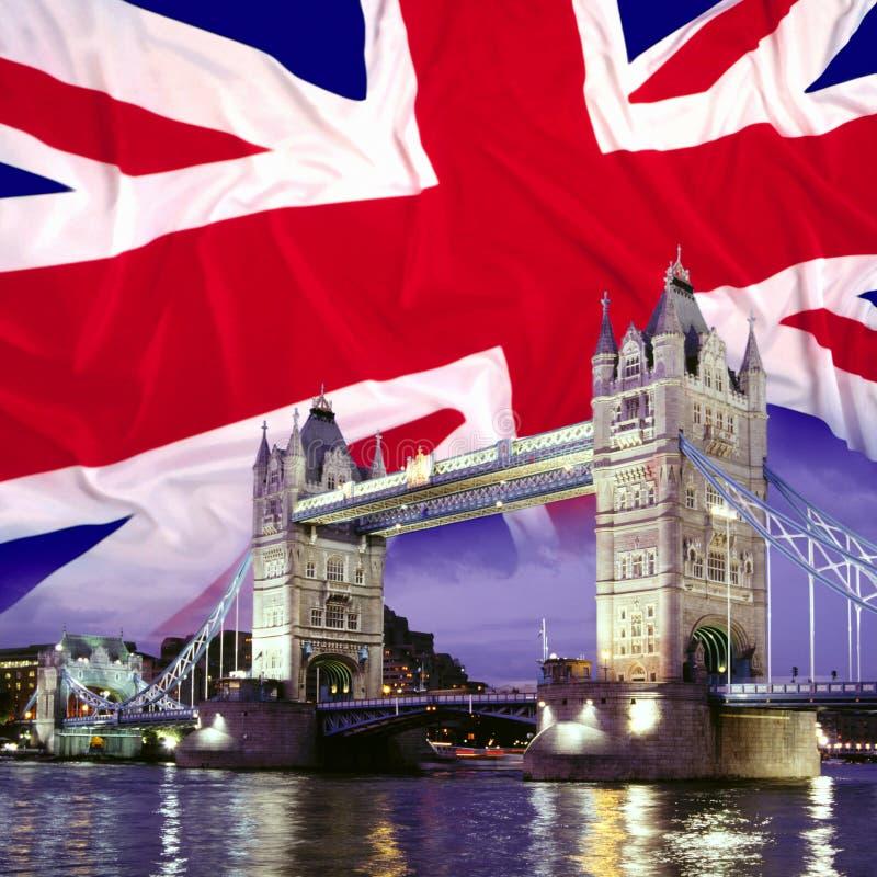 Kontrollturm-Brücke - London stockbild