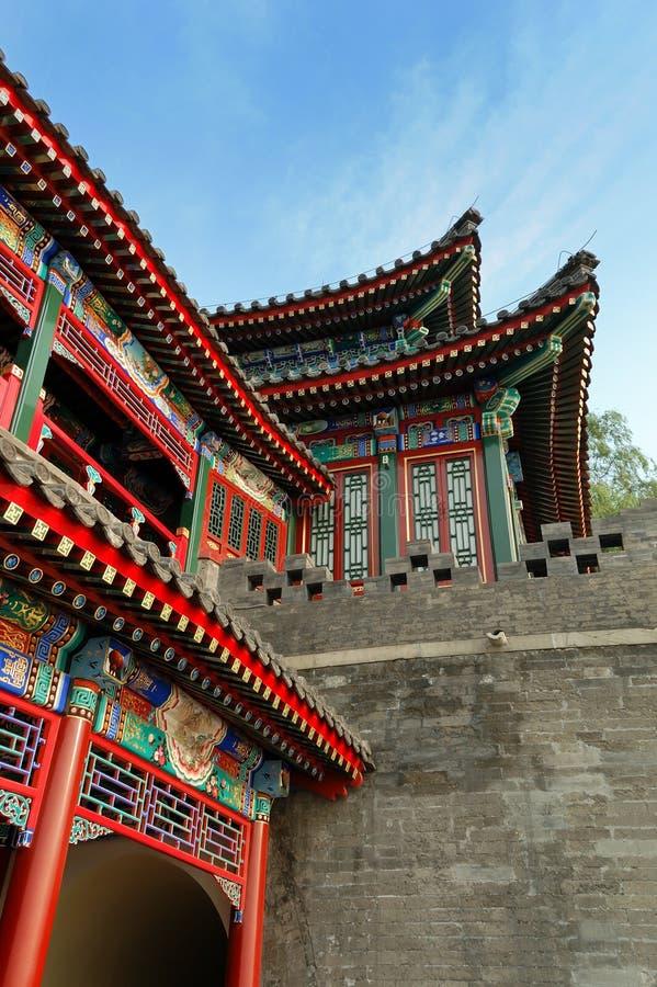 Kontrollturm in der chinesischen Art lizenzfreie stockfotografie
