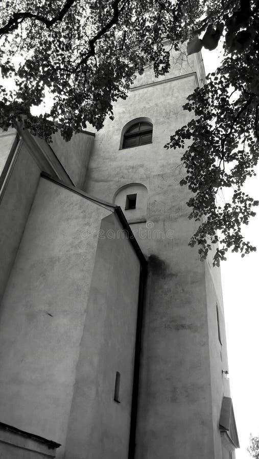 Kontrollturm der Kirche stockfotografie