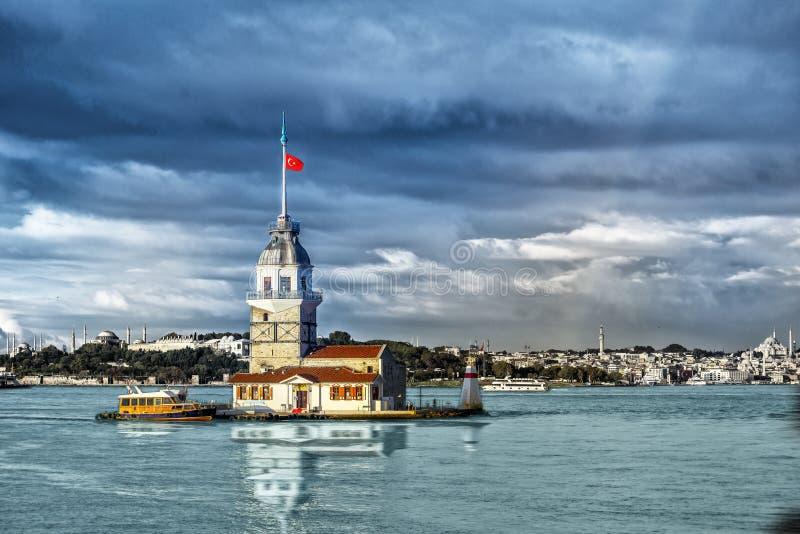 Kontrollturm der Maids in Istanbul stockbild