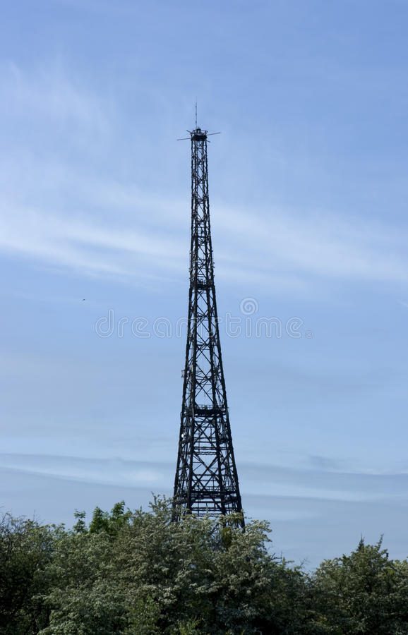Kontrollturm des Radiosenders in Gliwice lizenzfreies stockbild