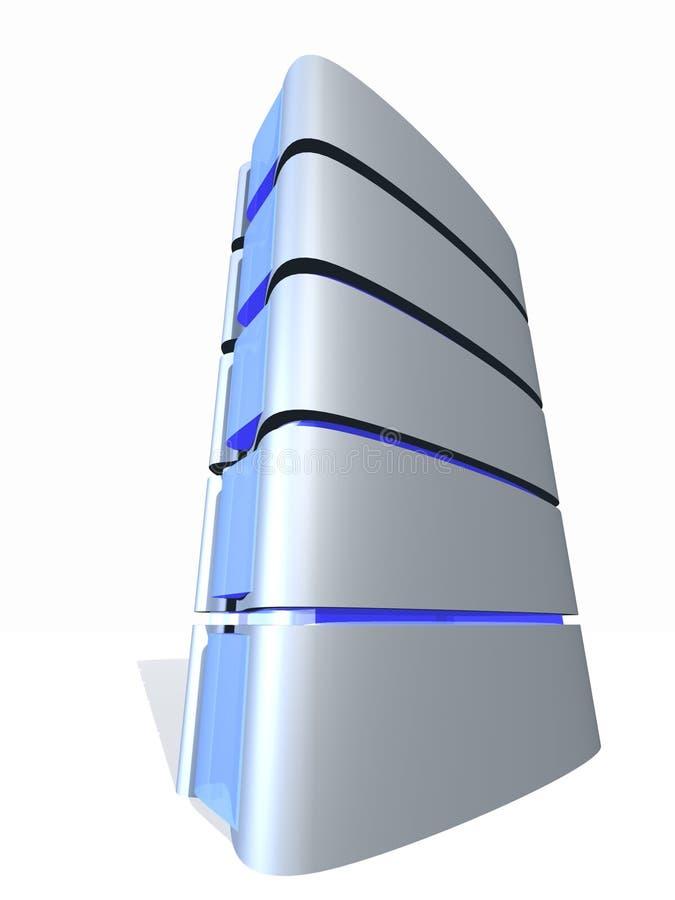 Kontrollturm des Servers 3D lizenzfreie abbildung