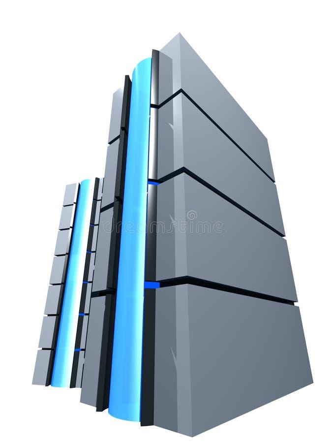 Kontrollturm des Servers 3d stock abbildung