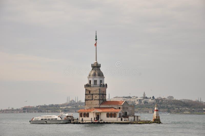 Kontrollturm Istanbul die Türkei der Maids lizenzfreie stockbilder