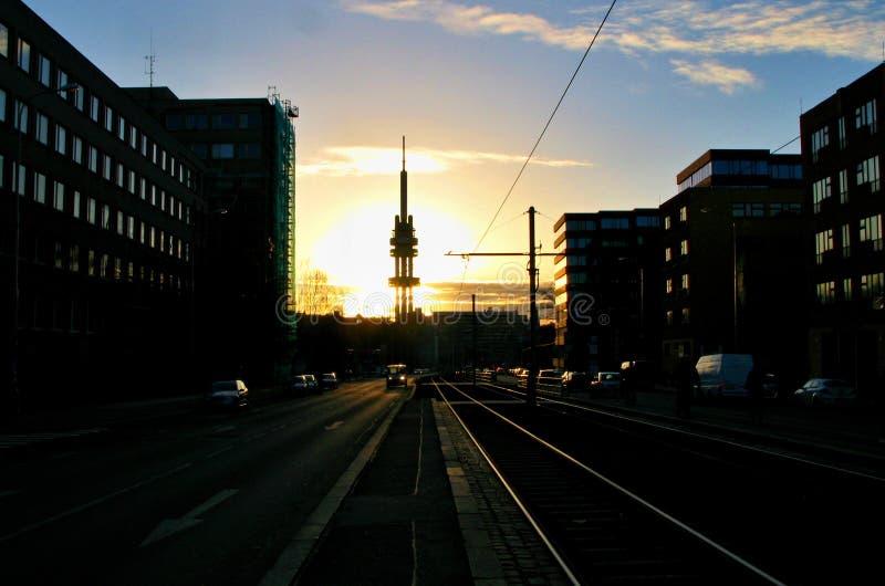 Kontrollturm in Prag lizenzfreie stockfotografie