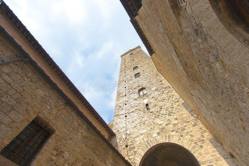 Kontrollturm San-Gimignano lizenzfreie stockbilder