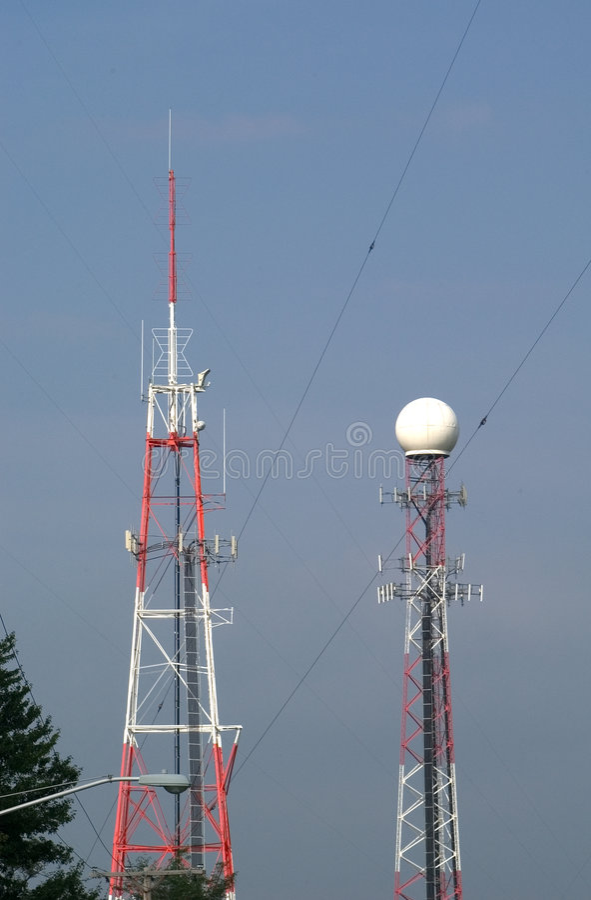 Kontrollturm-Sender Stockfotografie