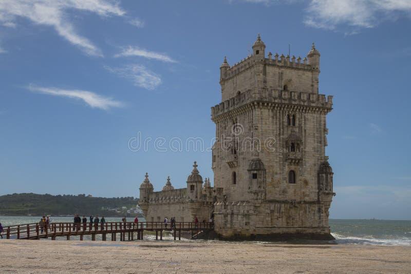 Kontrollturm von Belém stockbild