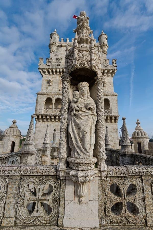 Kontrollturm von Belem, Lissabon Portugal stockfotografie