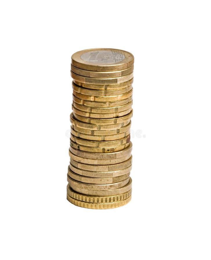 Kontrollturm von den Euromünzen lizenzfreies stockfoto