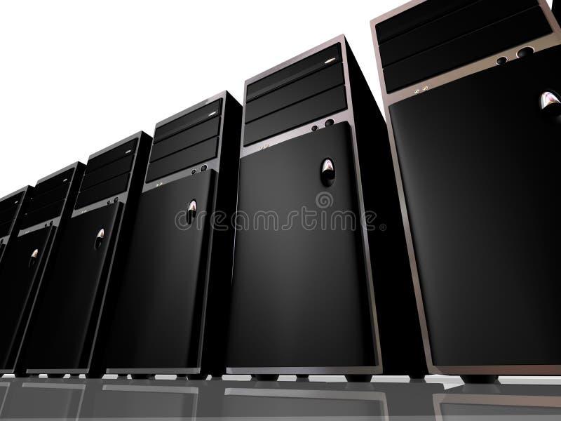 Kontrollturm-vorbildliche Computer oder Servers lizenzfreie abbildung