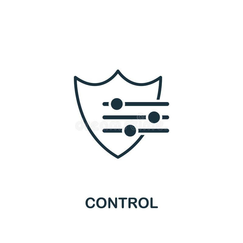 kontrolna ikona Kreatywnie elementu projekt od zarządzanie ryzykiem ikon inkasowych Piksel doskonalić kontroli ikona dla sieć pro royalty ilustracja