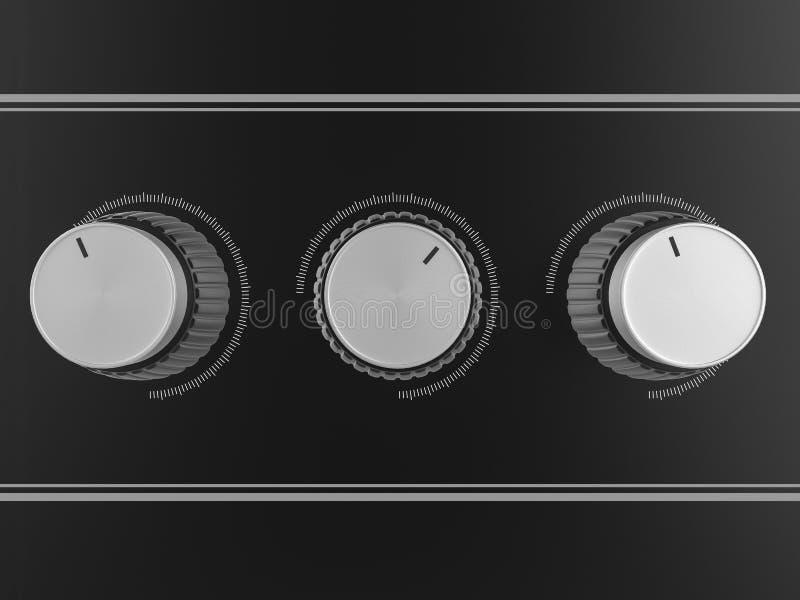 Kontrolne gałeczki ilustracji