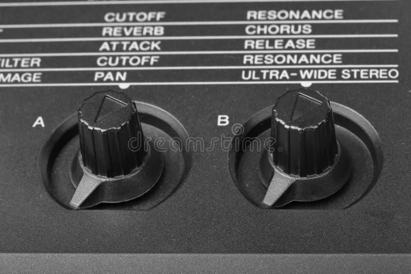 Kontrolne gałeczki syntetyka zakończenie fotografia stock