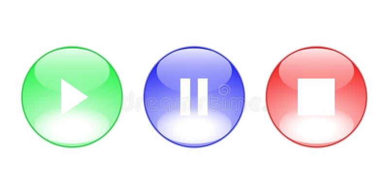 kontrolne ikony ilustracji