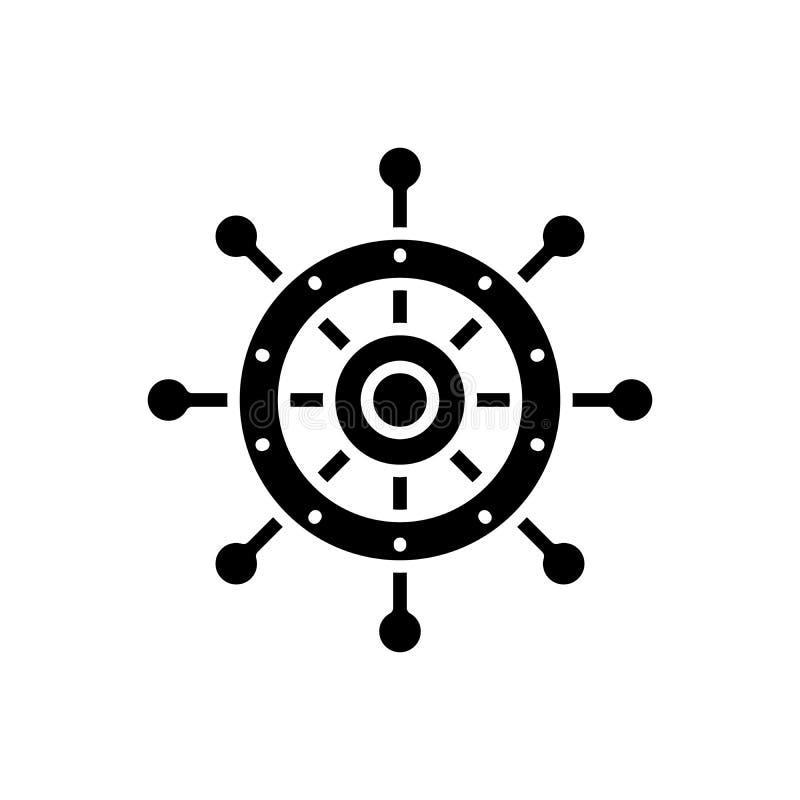 Kontrolnego koła czerni ikony pojęcie Kontrolnego koła płaski wektorowy symbol, znak, ilustracja ilustracji