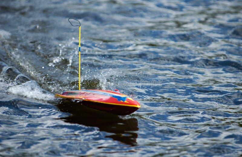 kontrolnego modela motorboat pilot obrazy stock
