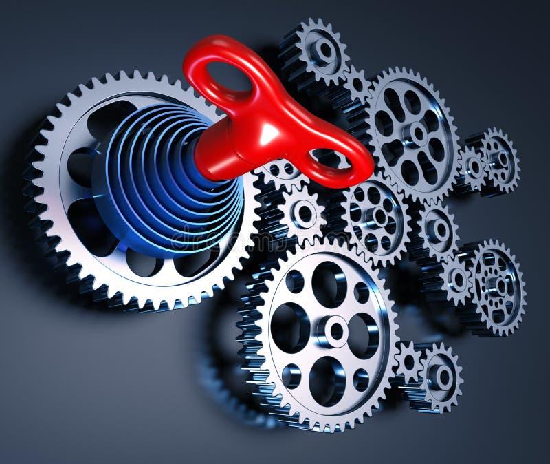 kontrolny klucz ilustracji
