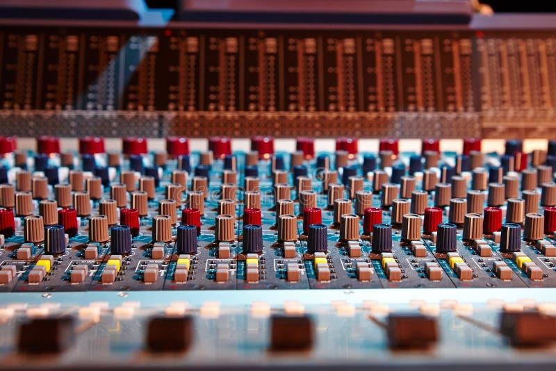 kontrolny melanżeru panelu dźwięk obrazy royalty free