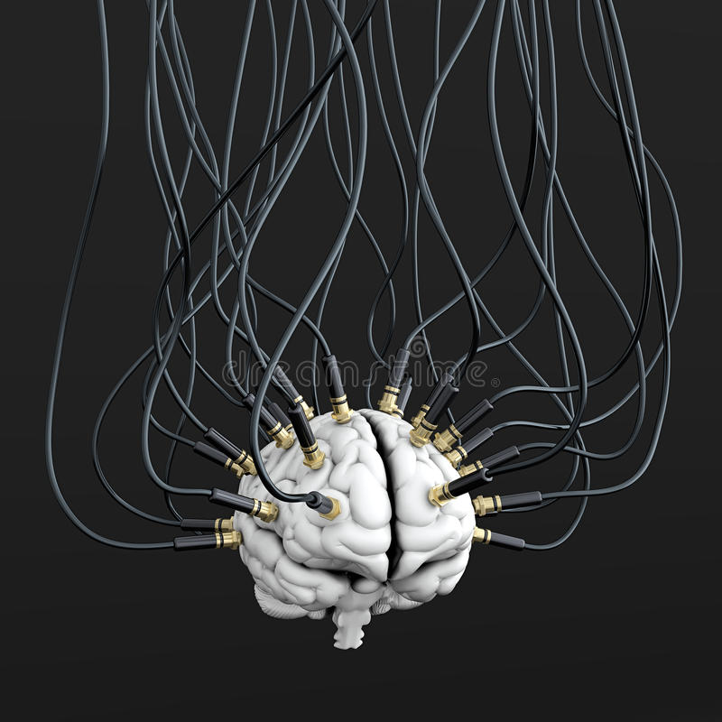 kontrolny umysł ilustracji