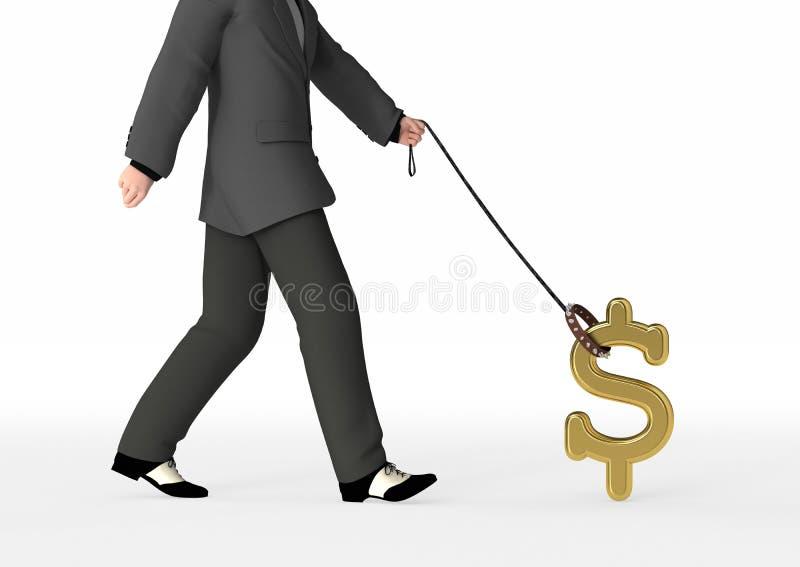 kontrolować przyszłość finansowej. ilustracji
