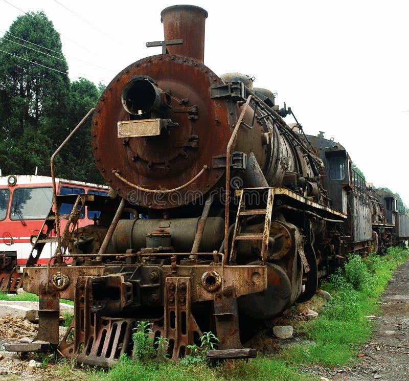 kontrpara stary pociąg zdjęcia stock